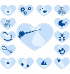baby boy buttons vector image