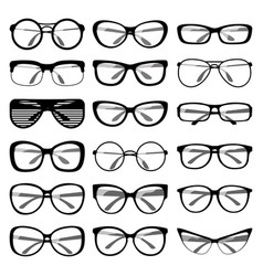 Set of spectacle frames vector