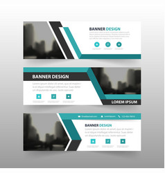 Blue triangle corporate business banner vector