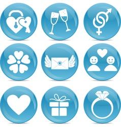 Romantic web icons vector image vector image