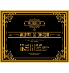 Vintage Wedding invitation card vector image vector image
