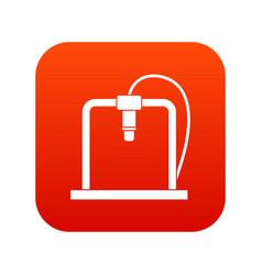 3d printer frame icon digital red vector image