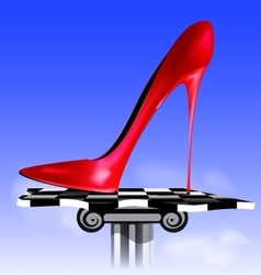 Abstract image of red shoe vector