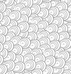 Abstract monochrome curves seamless pattern vector