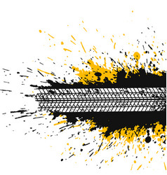Abstract splatter background with tire track vector