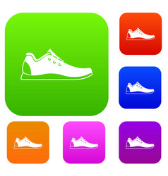 athletic shoe set collection vector image