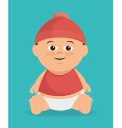 Baby boy cartoon vector image