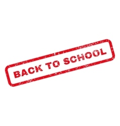 Back To School Text Rubber Stamp vector