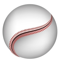 Baseball ball isolated icon over white background vector image