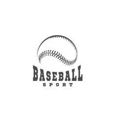 baseball sport logo vector image