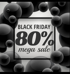 black friday offer sale poster template with vector image