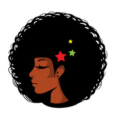 Bright in pop art afro vector