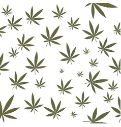 cannabis leaf seamless vector image