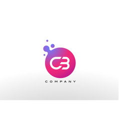 cb letter dots logo design with creative trendy vector image