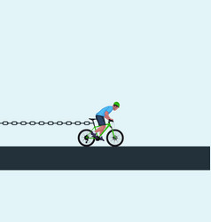 chain stoping bicycle vector image