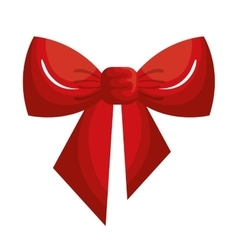 Christmas bow ribbon icon vector