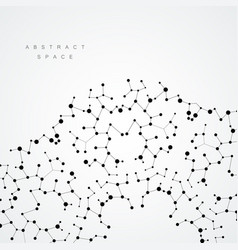 circle abstract connect with connecting dots and vector image