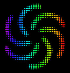 Colored dot galaxy icon vector