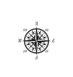 compass wind rose marine nautical icon vector image