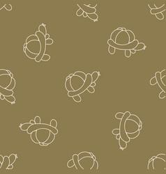 Cute cartoon unisex tortoise balloon animal vector