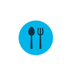 cutlery icon colored symbol premium quality vector image