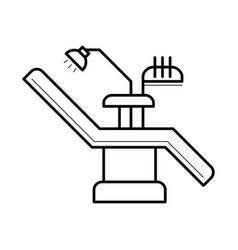 dentist chair and equipment icon vector image