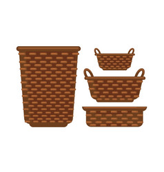 Different sized baskets vector