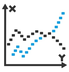 Dotted Functions Plot Icon vector