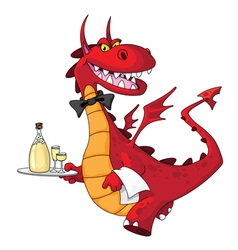 dragon waiter vector image