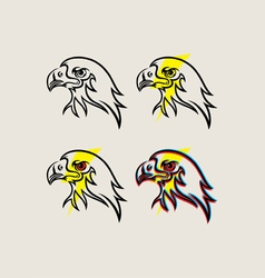 Eagle Face with Thunder vector image