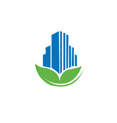 Eco building logo vector