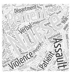 ERNurses getting hurt Word Cloud Concept vector