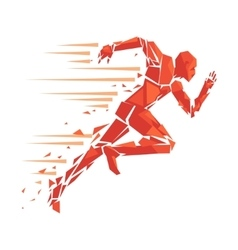 fire running man vector image