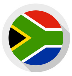 Flag south africa round shape icon on white vector