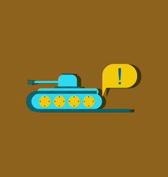 Flat icon design collection tank and exclamation vector