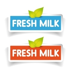 Fresh milk label vector image