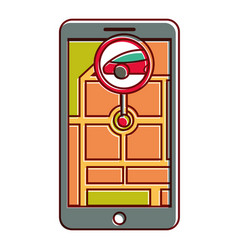 gps navigation pointer map car location vector image