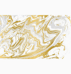 Gray and gold agate ripplle pattern pale vector