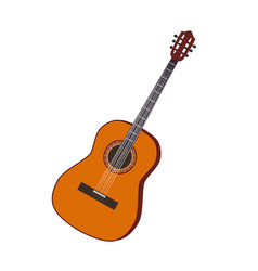 guitar musical instrument flat vector image