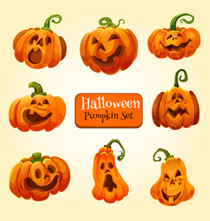 Halloween pumpkin lantern icon autumn holiday vector