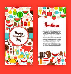 happy memorial day barbecue flyer vector image