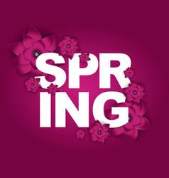 Hello spring banner greetings design background vector
