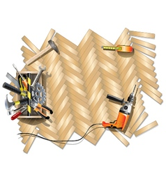 Housing Repair Frame with Toolbox vector