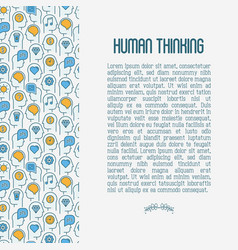 human thinking concept with thin line icon vector image
