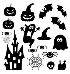 Icons for Halloween vector image