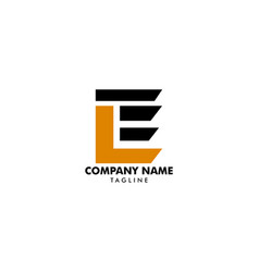 initial letter le logo template design vector image