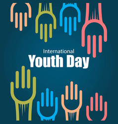 International youth day template design vector