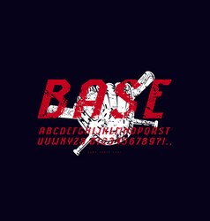 italic sans serif font in sport style vector image