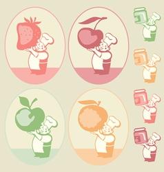 kitchen sticker vector image vector image