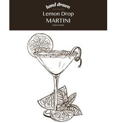 lemon drop martini composition vector image